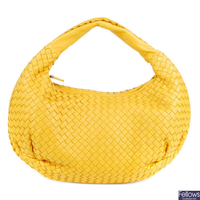BOTTEGA VENETA - a Nappa Intrecciato Belly Veneta hobo handbag.