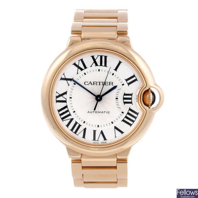 CARTIER - an 18ct rose gold Ballon Bleu bracelet watch.