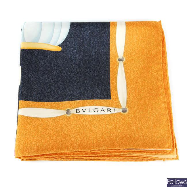 BULGARI - a silk scarf.