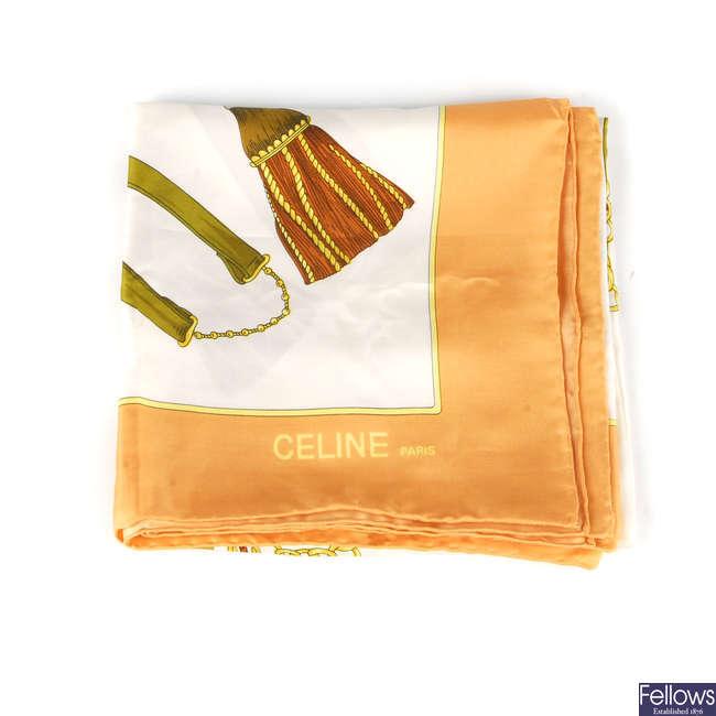 CÉLINE - a silk scarf.