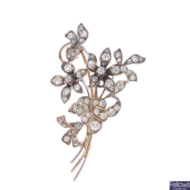 An early 20th century diamond brooch.