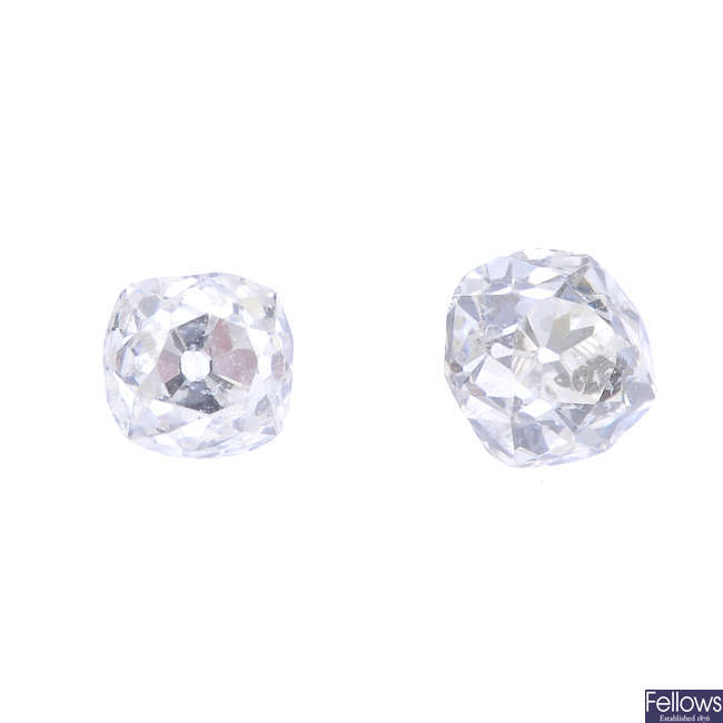 A selection of old-cut diamonds, total weight 0.82ct.