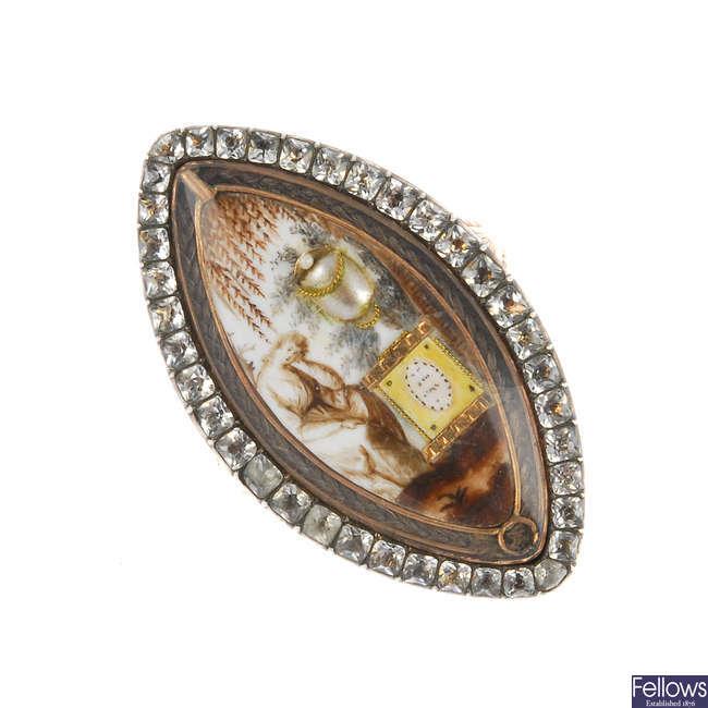 A late Georgian gold memorial ring.