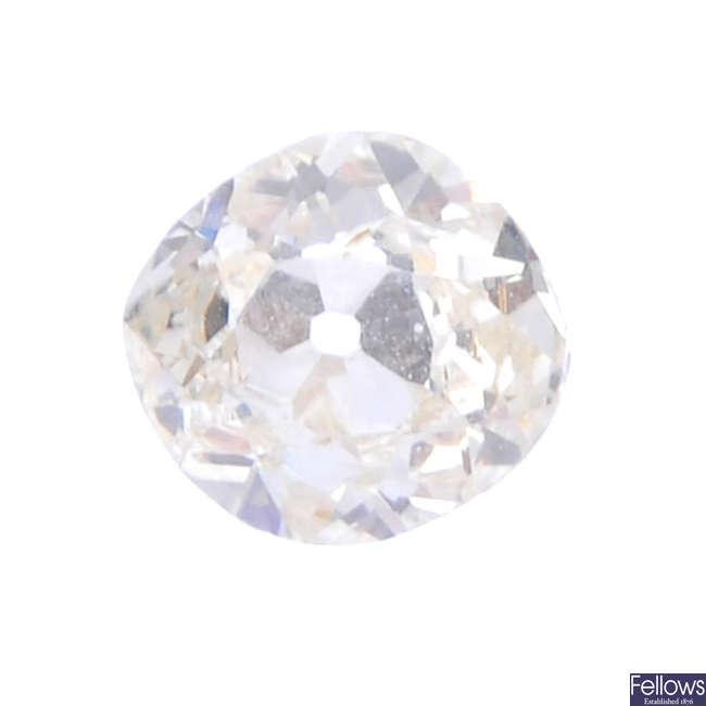 An old-cut diamond, weighing 0.48ct.