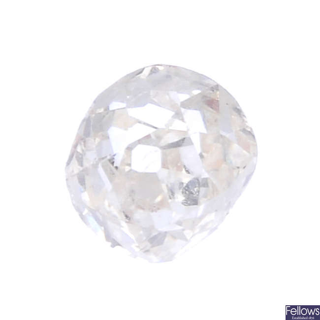 An old-cut diamond, weighing 0.49ct.