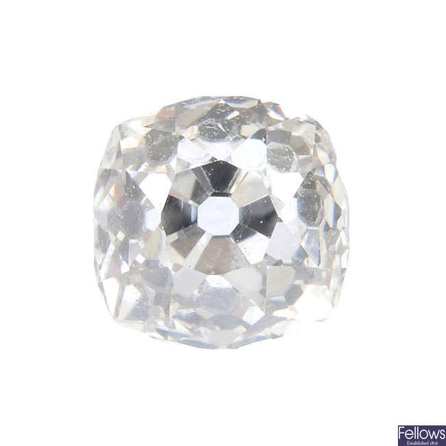 An old-cut diamond, weighing 0.55ct.