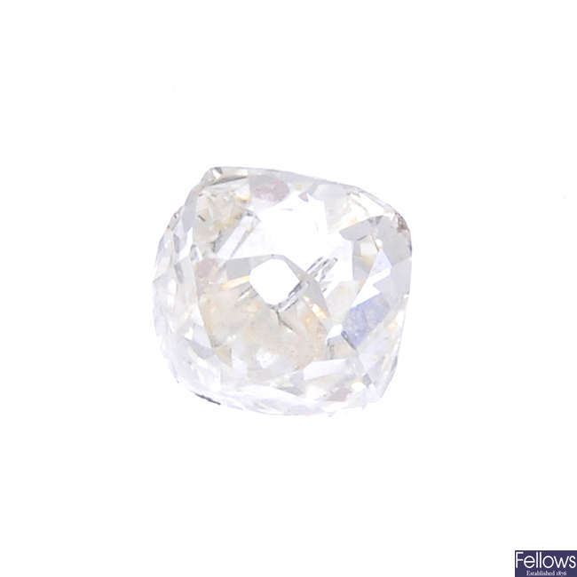 An old-cut diamond, weighing 0.54ct.