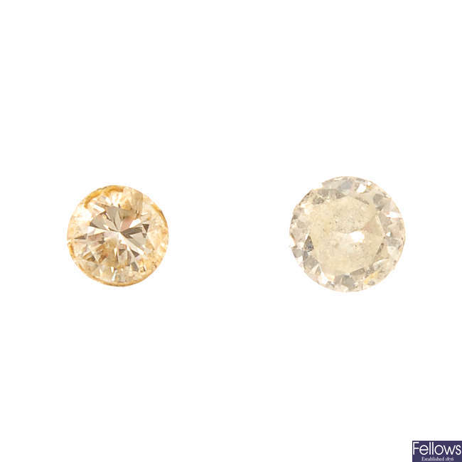 A selection of brilliant-cut diamonds, total weight 1.36cts.