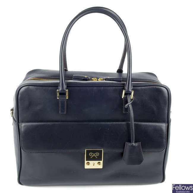 ANYA HINDMARCH - a Carker leather handbag.