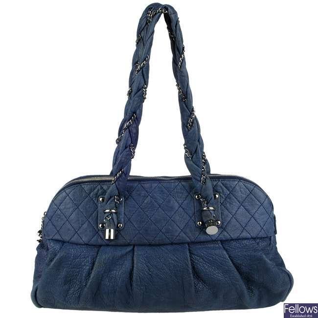 CHANEL - a blue Lady Braid handbag.