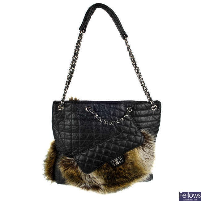 CHANEL - a Fantasy Fur Karl Cabas handbag.
