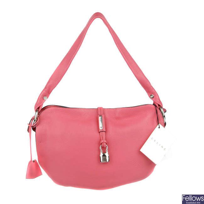 CÉLINE - a small pink Bittersweet handbag.