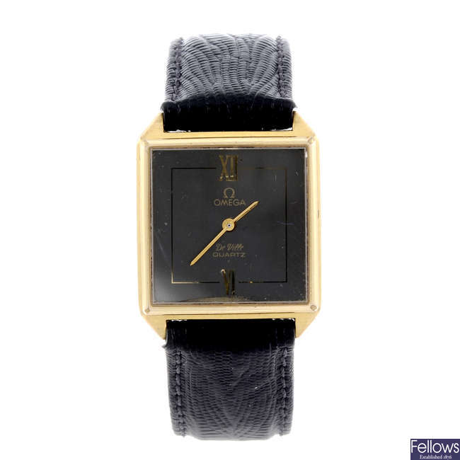 OMEGA - a lady's gold plated De Ville wrist watch together with two other watches.
