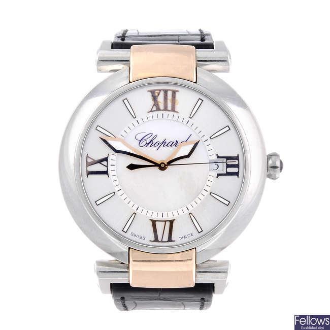 CHOPARD – a lady's bi-metal Imperiale wrist watch.