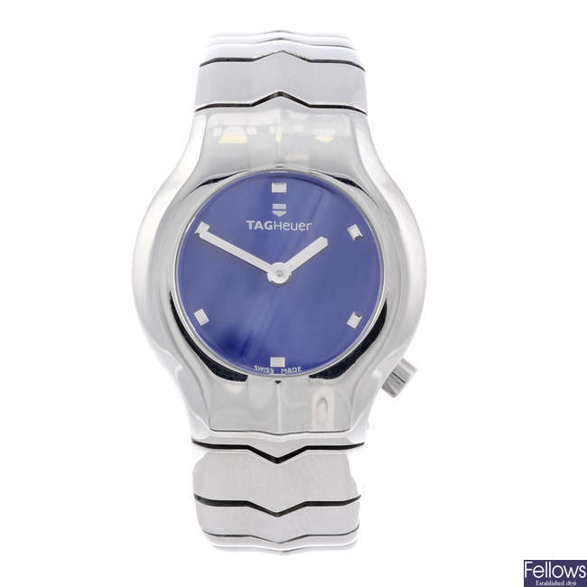 TAG HEUER - a lady's stainless steel Alter Ego bracelet watch.