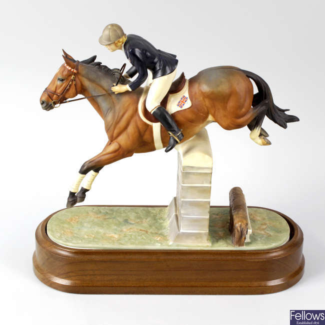 A Royal Worcester porcelain equestrian model of Stroller and Marion Coakes