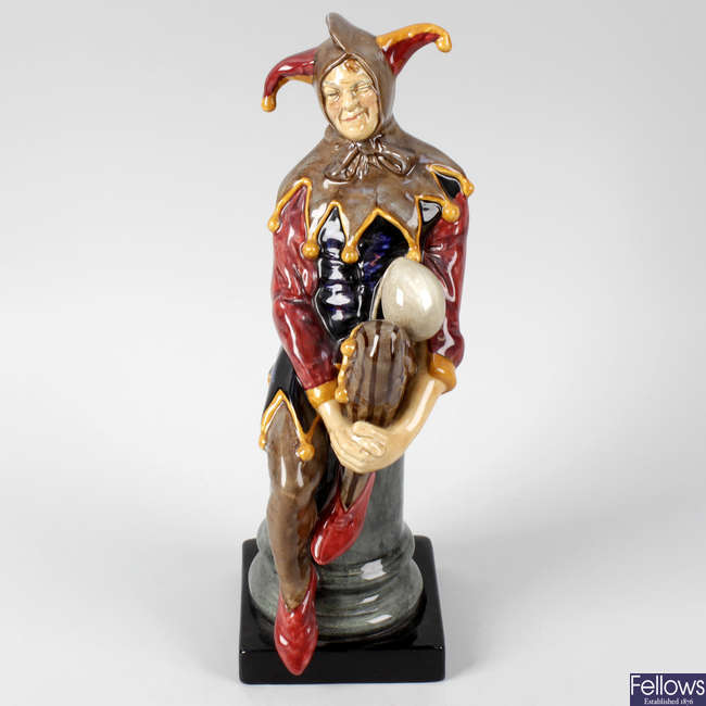 A Royal Doulton figure, 'The Jester'.