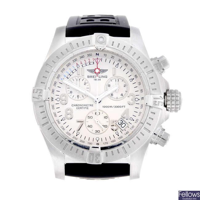 BREITLING - a gentleman's stainless steel Aeromarine Avenger Sea Wolf chronograph wrist watch.