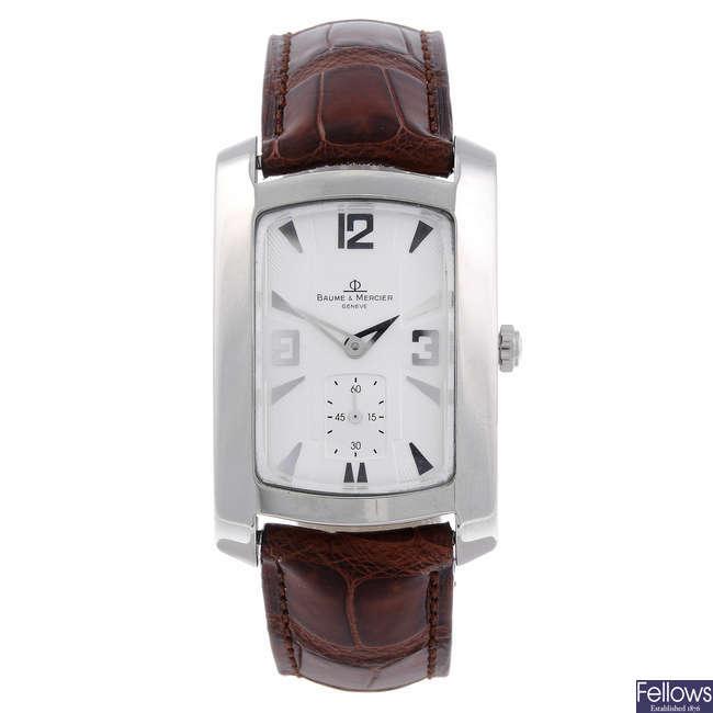 BAUME & MERCIER - a midsize stainless steel Hampton wrist watch.