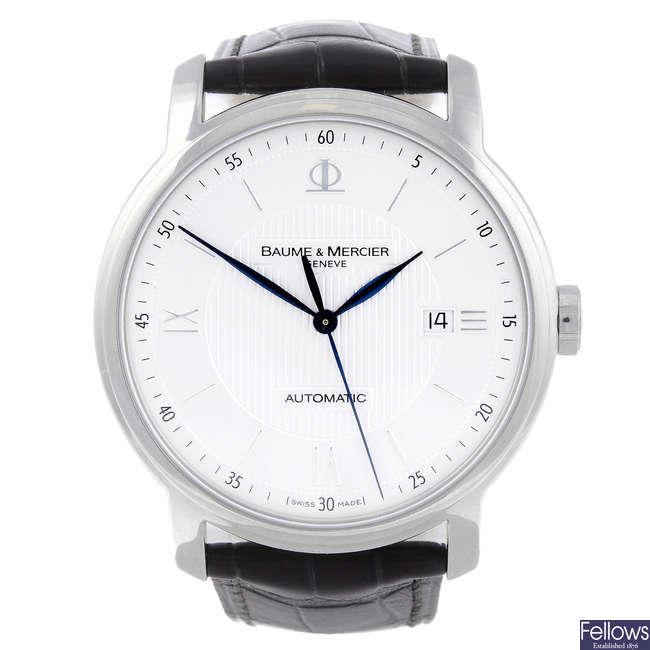 BAUME & MERCIER - a gentleman's stainless steel Classima wrist watch.