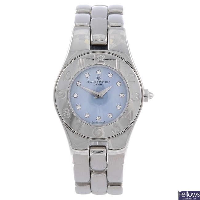 BAUME & MERCIER - a lady's stainless steel Linea bracelet watch.