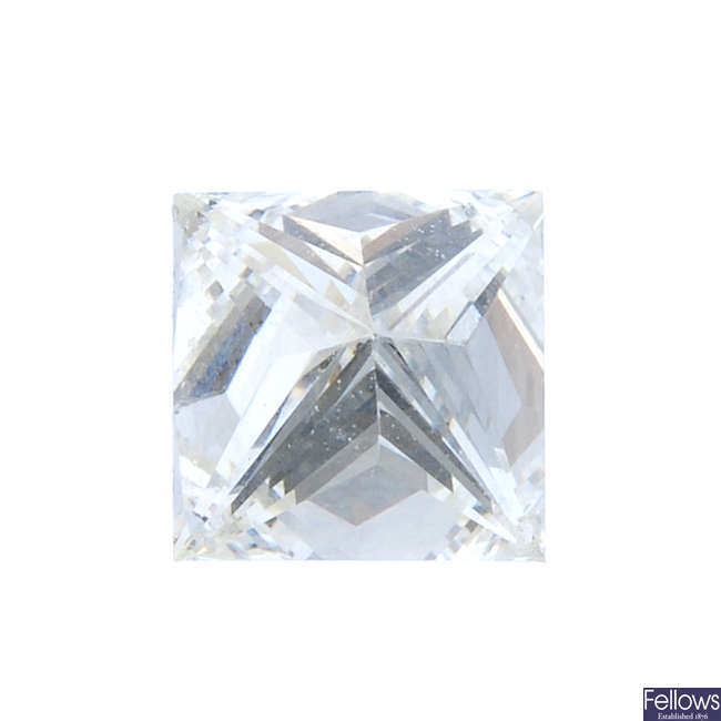 A square-shape diamond, weighing 0.46ct.