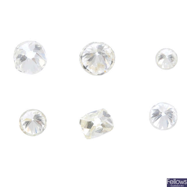 Six vari-cut diamonds.