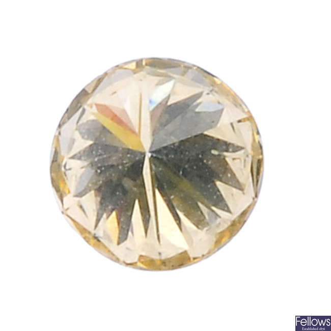 A brilliant-cut diamond, weighing 0.86ct.