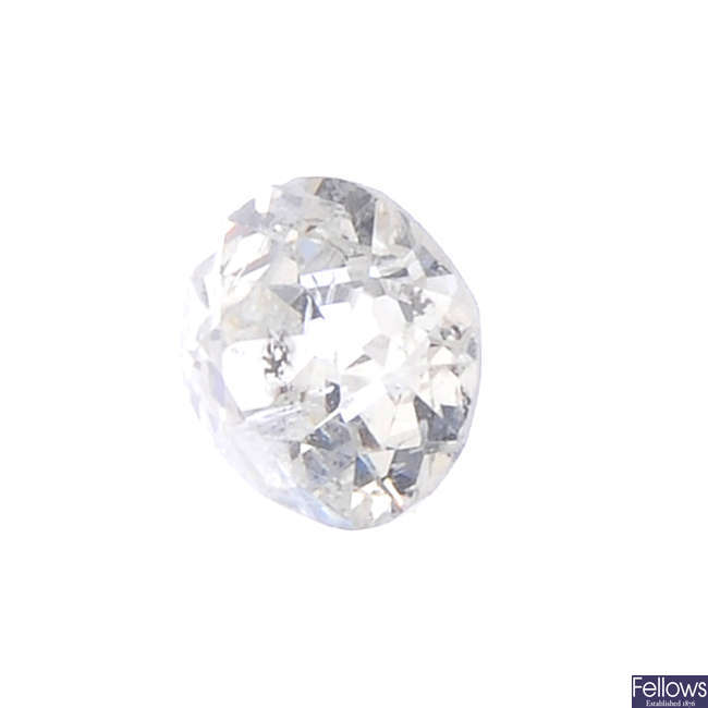 An old-cut diamond, weighing 0.85ct.