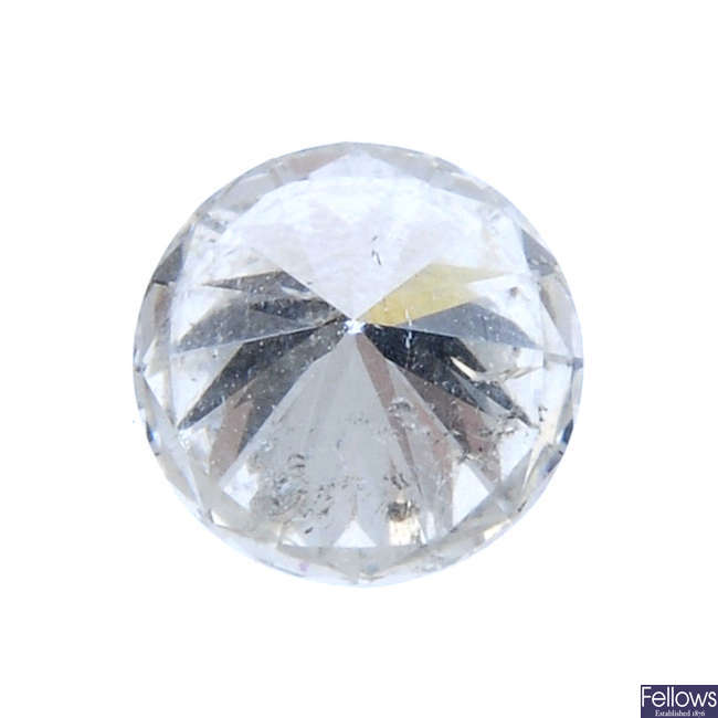 A brilliant-cut diamond, weighing 0.76ct.