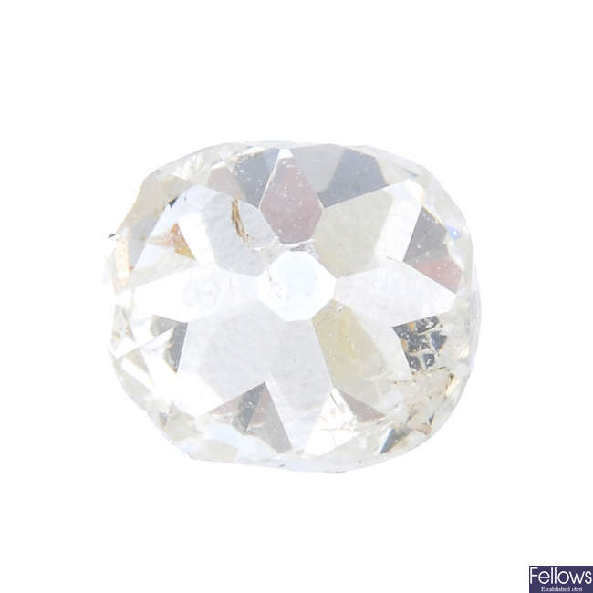 An old-cut diamond, weighing 0.65ct.