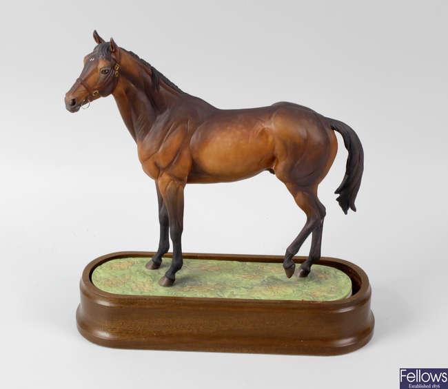 A Royal Worcester porcelain model of Mill Reef