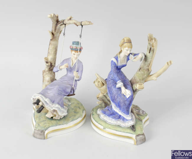 A good group of ten Royal Worcester porcelain limited edition figures