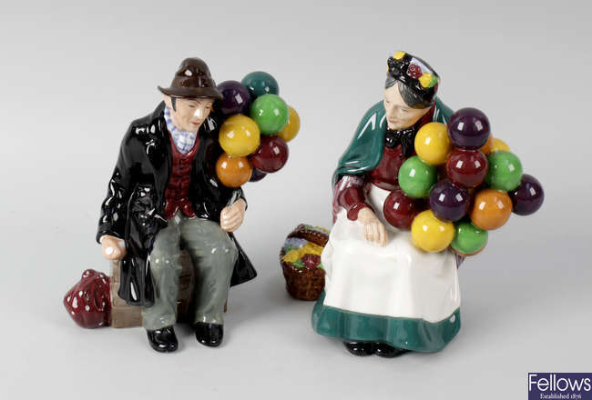 A pair of Royal Doulton figures