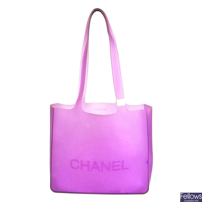 CHANEL - a rubber handbag.