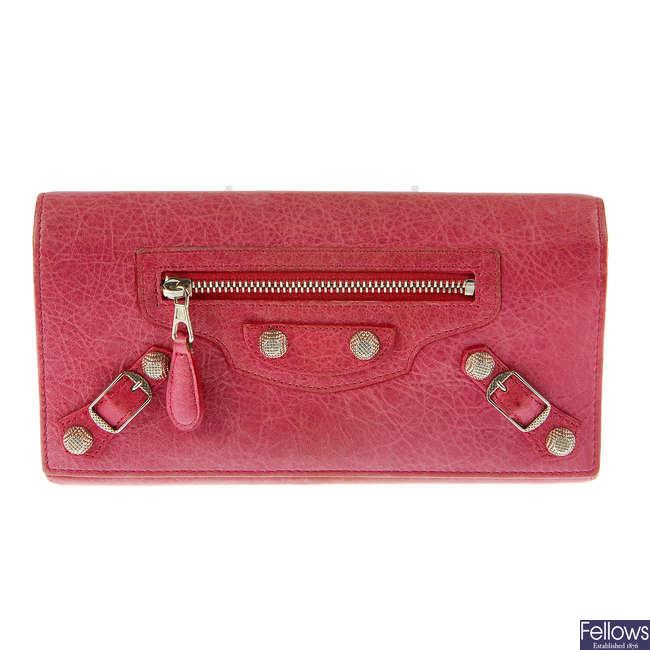 BALENCIAGA - a Giant Continental purse.