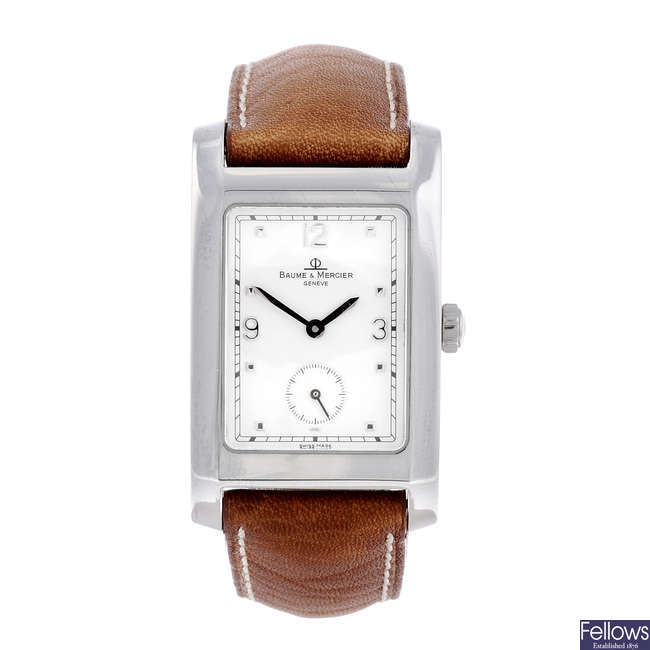 BAUME & MERCIER - a gentleman's stainless steel Hampton wrist watch.