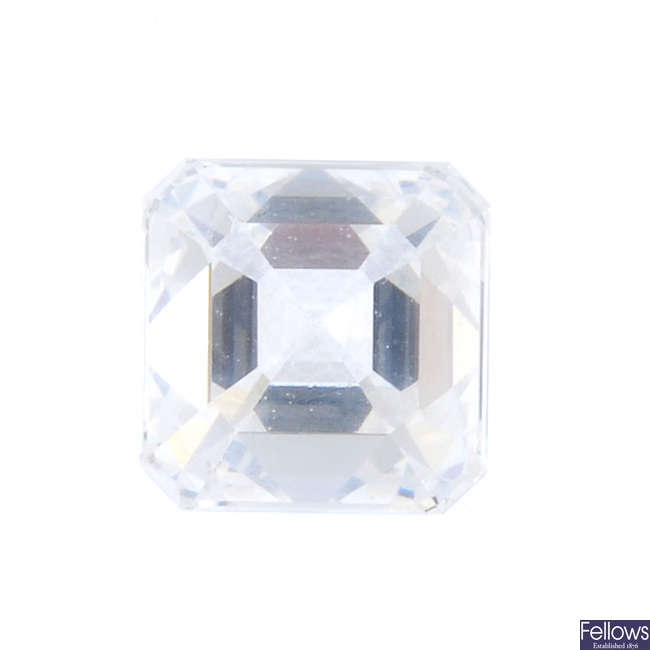 A square-shape diamond, weighing 0.54ct.