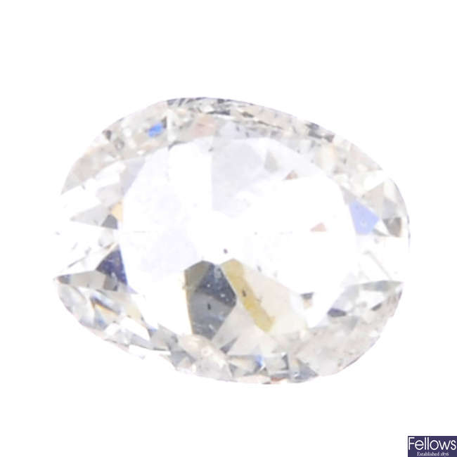 An oval-shape diamond, weighing 1.10cts.