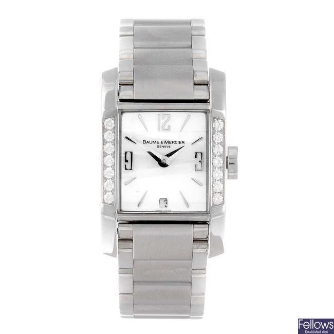 BAUME & MERCIER - a lady's stainless steel Diamant bracelet watch.