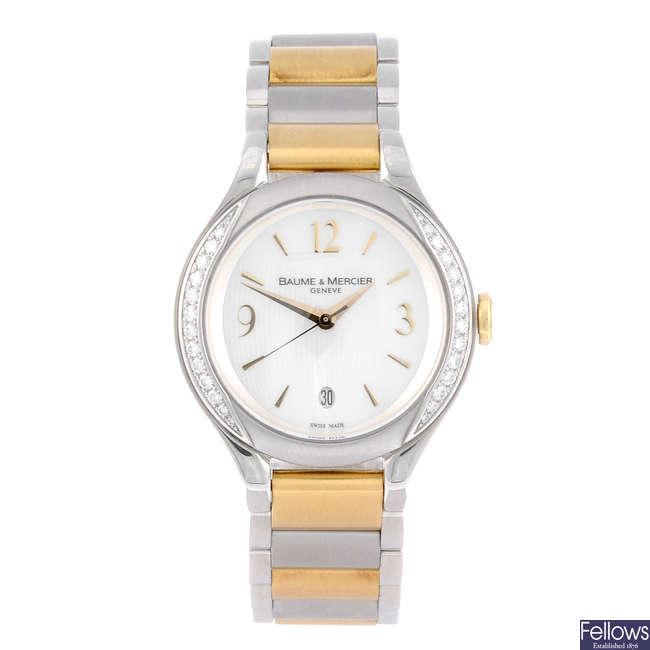 BAUME & MERCIER - a lady's stainless steel Ilea bracelet watch.