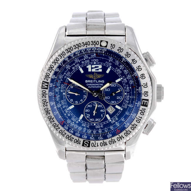 BREITLING - a gentleman's stainless steel Professional B-2 chronograph bracelet watch.