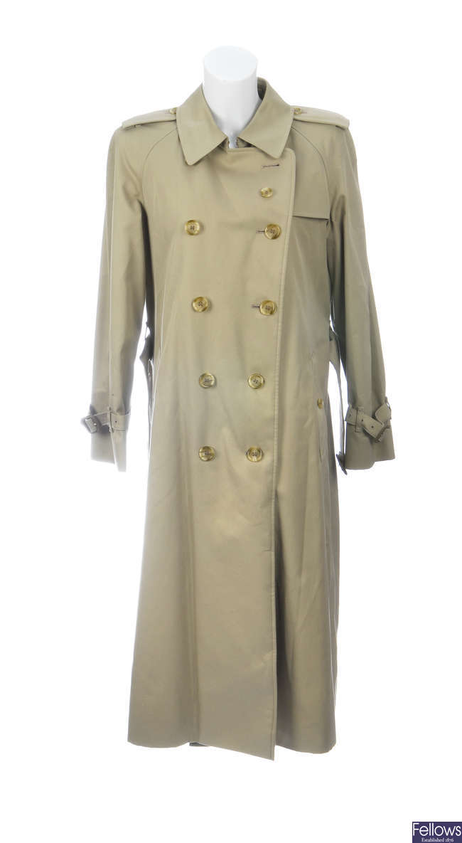 BURBERRY - a women's classic full length trench coat.