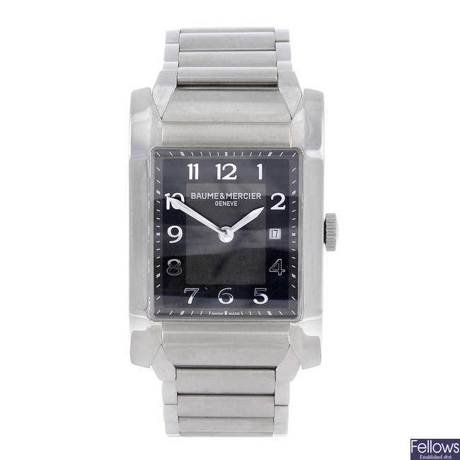 BAUME & MERCIER - a mid-size stainless steel Hampton bracelet watch.