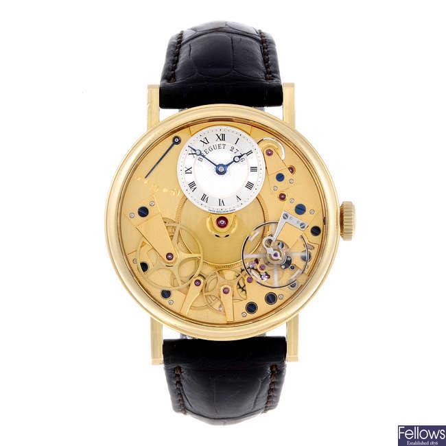 BREGUET - a gentleman's 18ct yellow gold Tradition wrist watch.