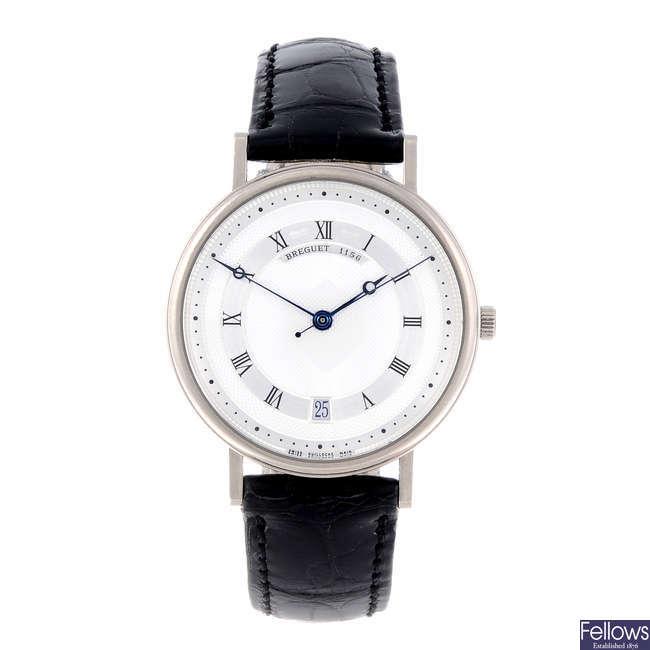 BREGUET - a gentleman's 18ct white gold Classique wrist watch.