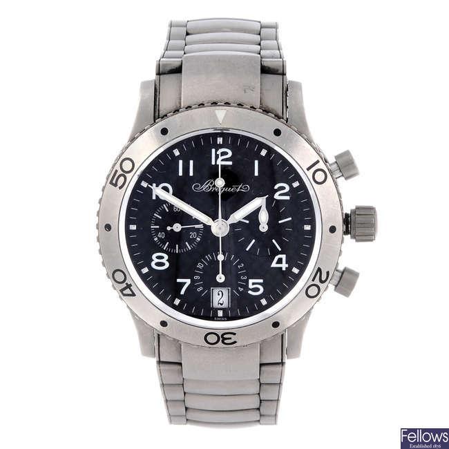 BREGUET - a gentleman's titanium Type XX chronograph bracelet watch.