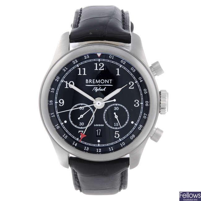 BREMONT - a gentleman's stainless steel Codebreaker chronograph wrist watch.