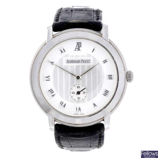 AUDEMARS PIGUET - a gentleman's 18ct white gold Jules Audemars wrist watch.