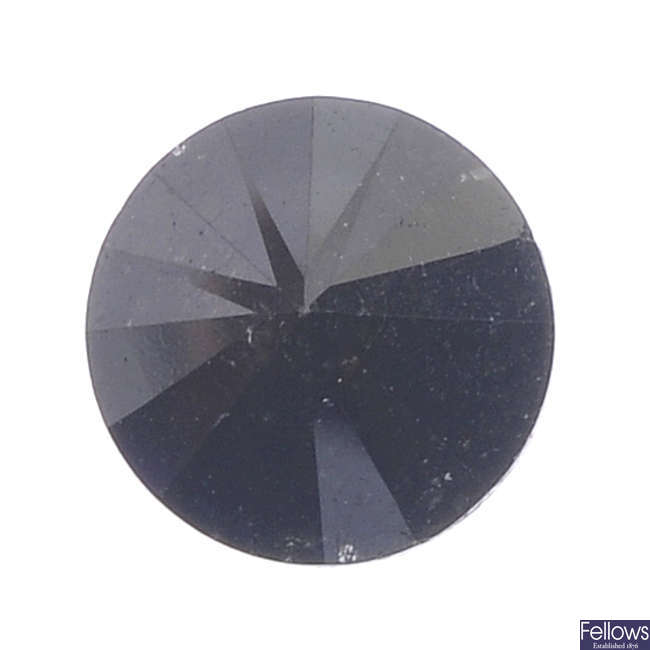 A brilliant-cut colour treated 'black' diamond, weighing 3.26cts.